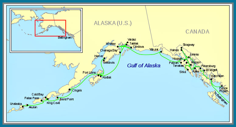 Pelican Bay Alaska Map.Afr Map Of Alaska Ferry Routes Alaska Tour Adventures Alaska